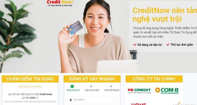 """Credit Now. Ứng dụng vay tiền dựa vào """"chấm điểm tín dụng"""""""