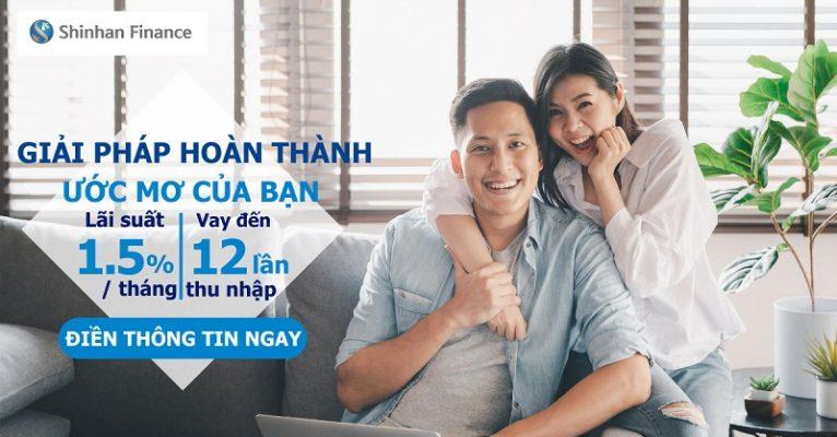 Hướng dẫn vay tín chấp Shinhan Finance