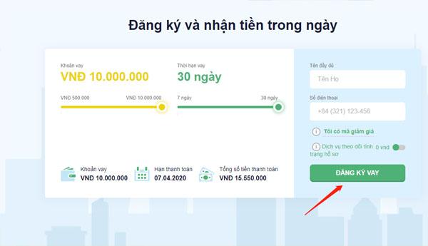Hướng dẫn vay tiền online Senmo