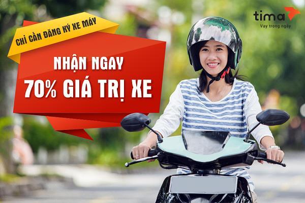 Vay tiền bằng đăng ký xe máy không chính chủ với Tima