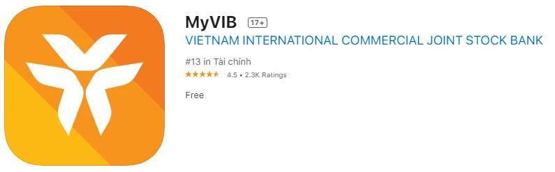 Chi tiết về Ứng dụng Ngân hàng di động MyVIB