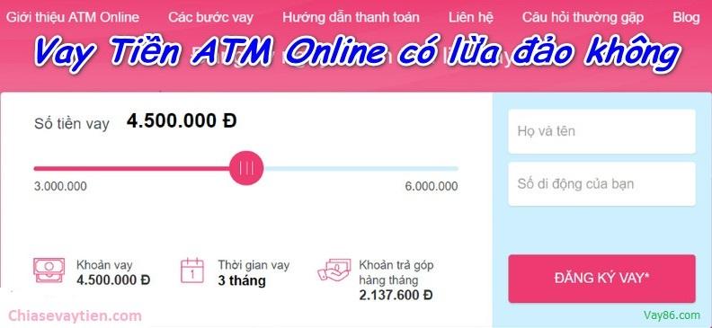 Vay tiền ATM Online lừa đảo không?
